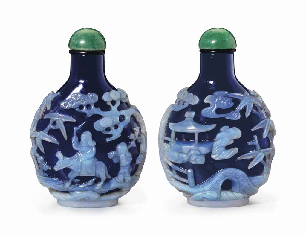 A LIGHT BLUE-OVERLAY DARK BLUE