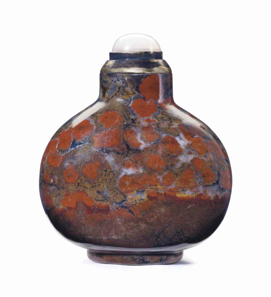 A JASPER SNUFF BOTTLE