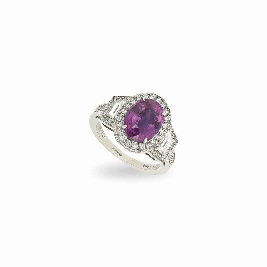 TIFFANY & CO. A PINK SAPPHIRE