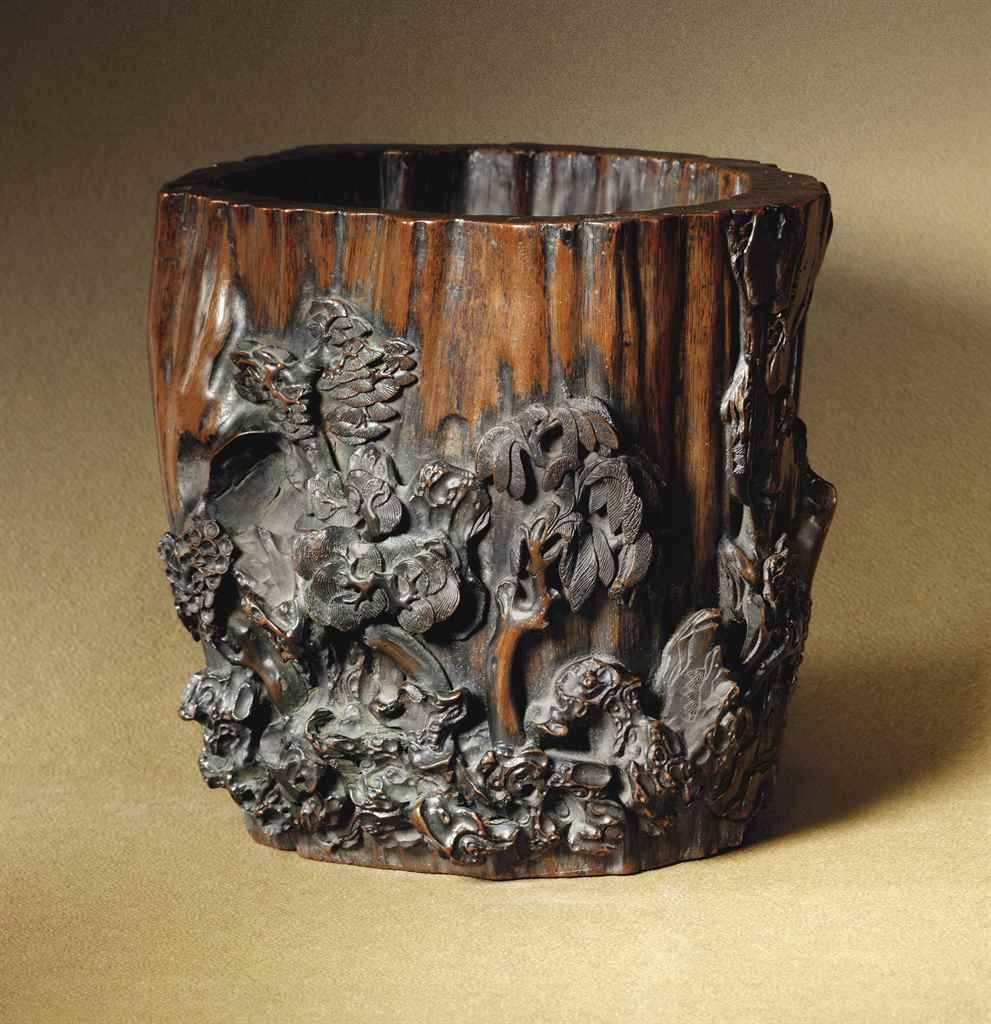 A RARE CHENXIANGMU BRUSH POT C
