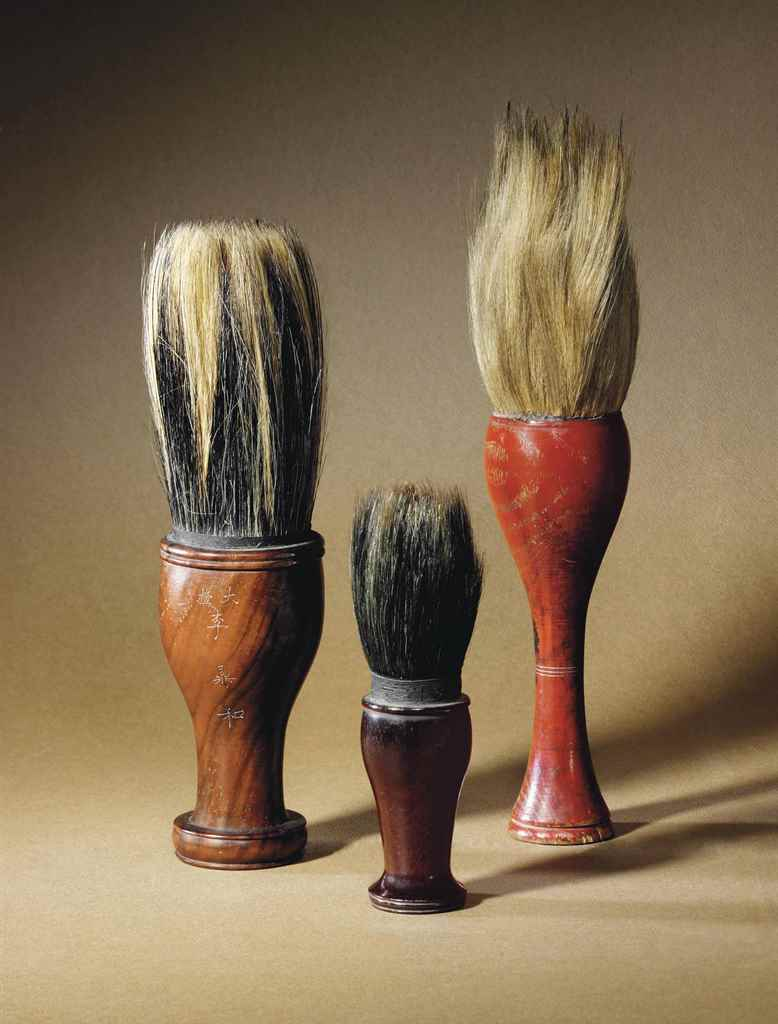 THREE SCHOLAR'S BRUSHES