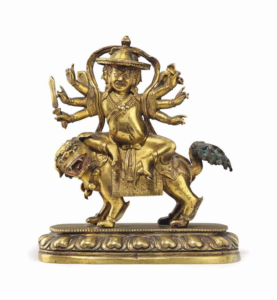 A Gilt Bronze Figure of Pehar