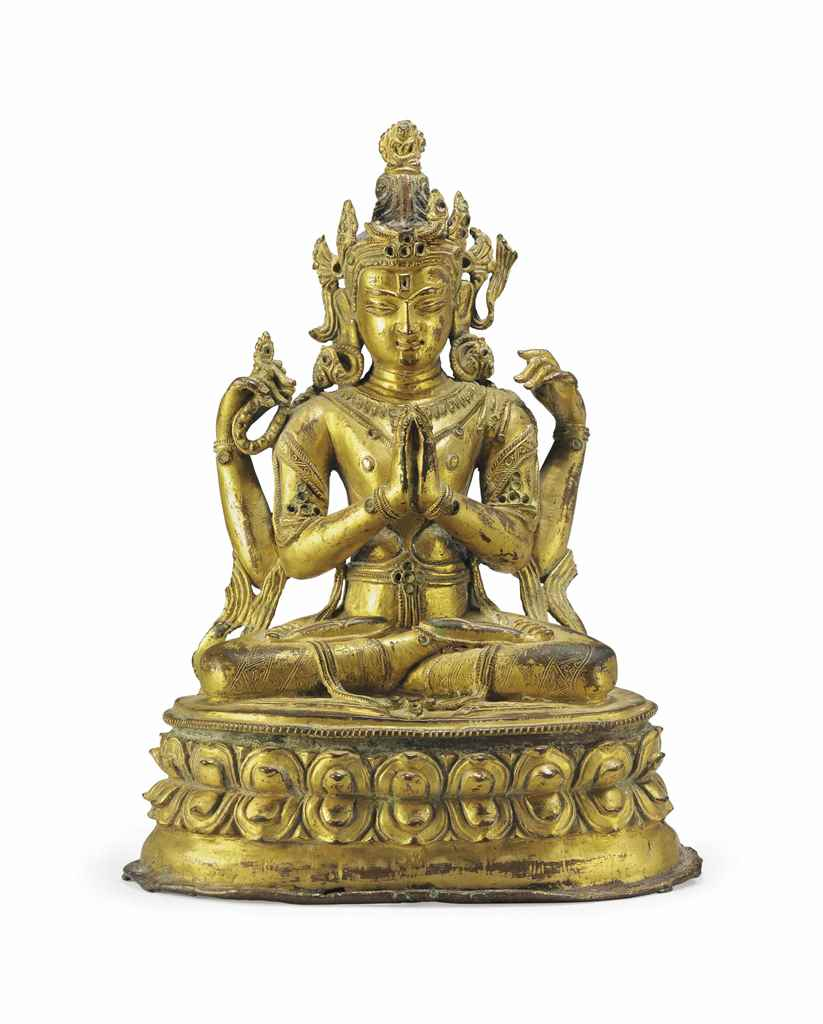 A Gilt Bronze Figure of Sadaks