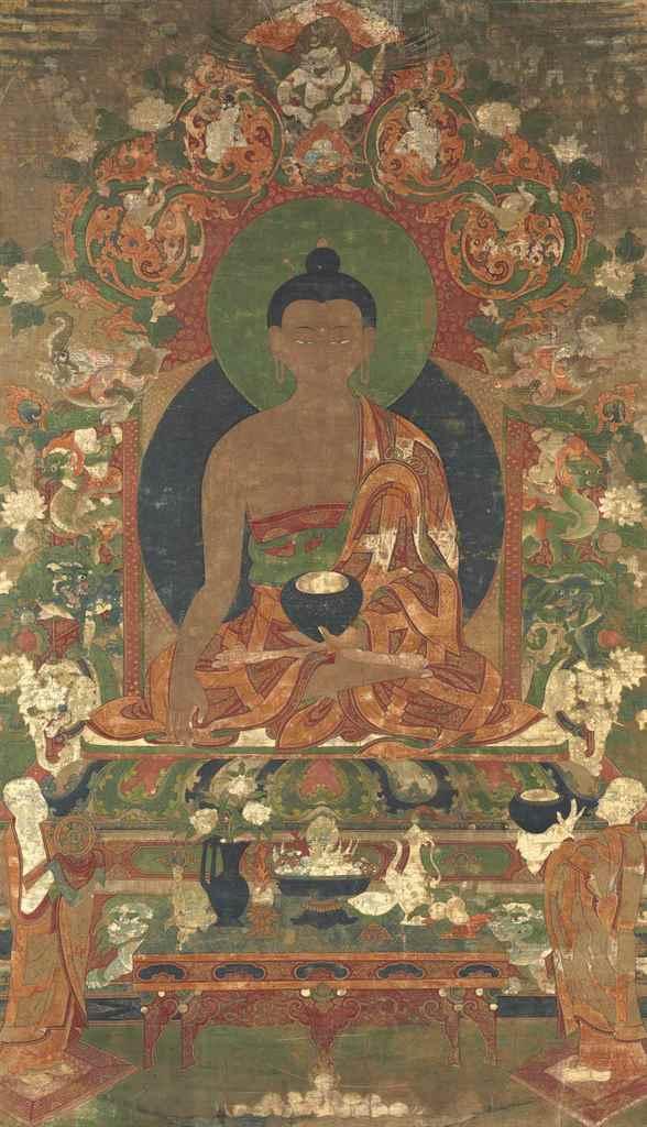 A Painting of Buddha Shakyamun