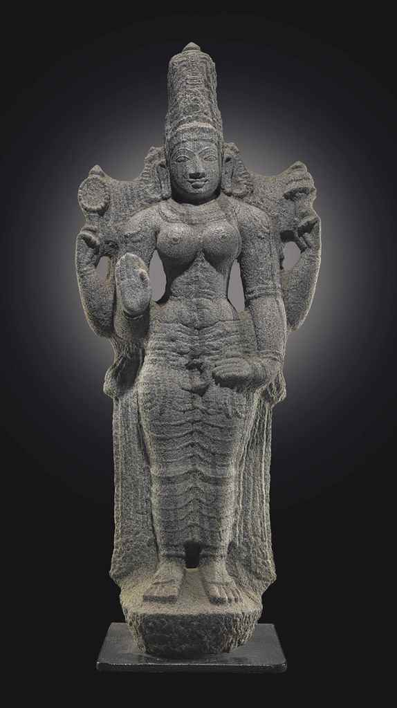 A granite figure of Parvati