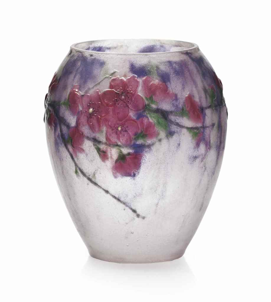 gabriel argy rousseau 1885 1963 a 39 fleurs de pecher 39 vase circa 1920 christie 39 s. Black Bedroom Furniture Sets. Home Design Ideas