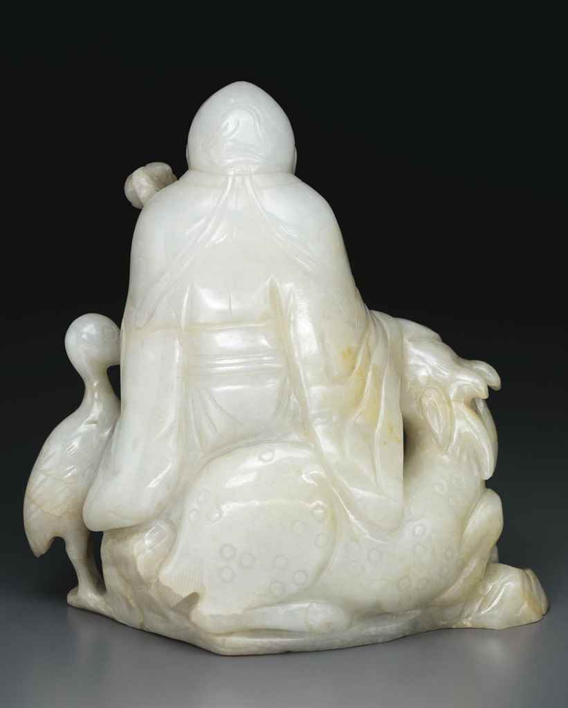 A PALE GREENISH-WHITE JADEITE