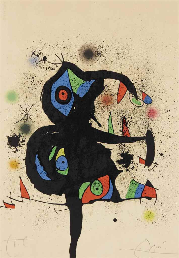 JOAN MIRO ( BARCELONE 1893-PAL