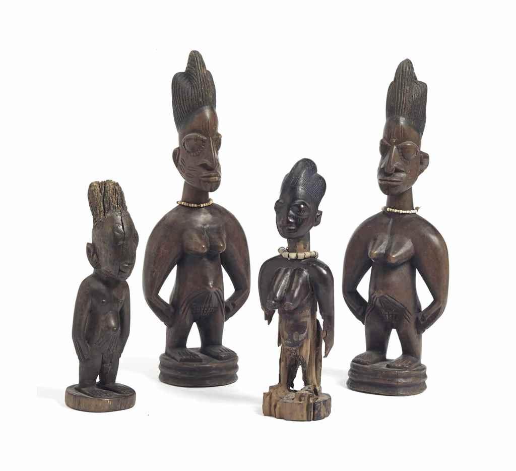 Ensemble de 4 statuettes Yorou