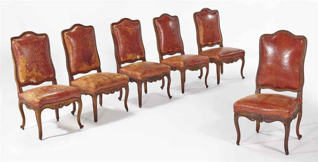 SUITE DE SIX CHAISES LOUIS XV