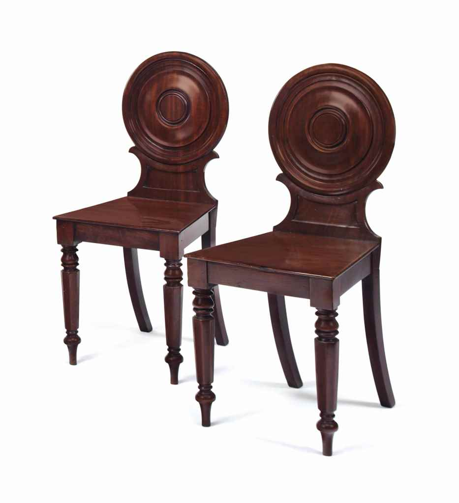 A PAIR OF GEORGE IV MAHOGANY H