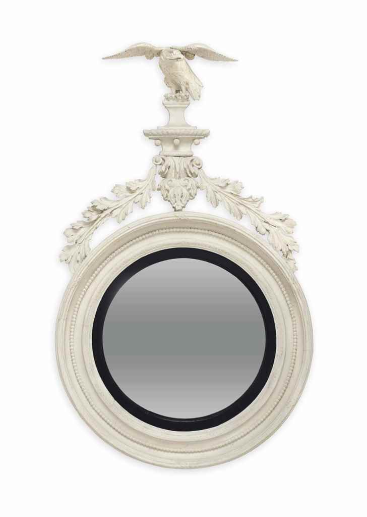 A REGENCY WHITE-PAINTED CONVEX