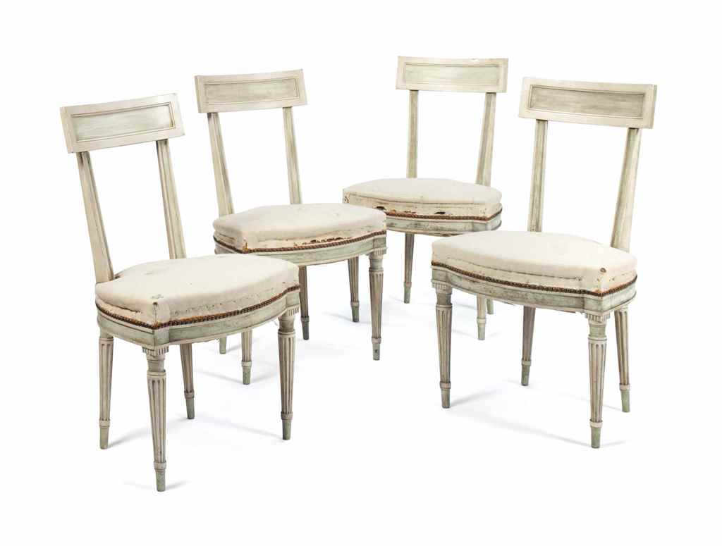 A SET OF FOUR DIRECTOIRE STYLE
