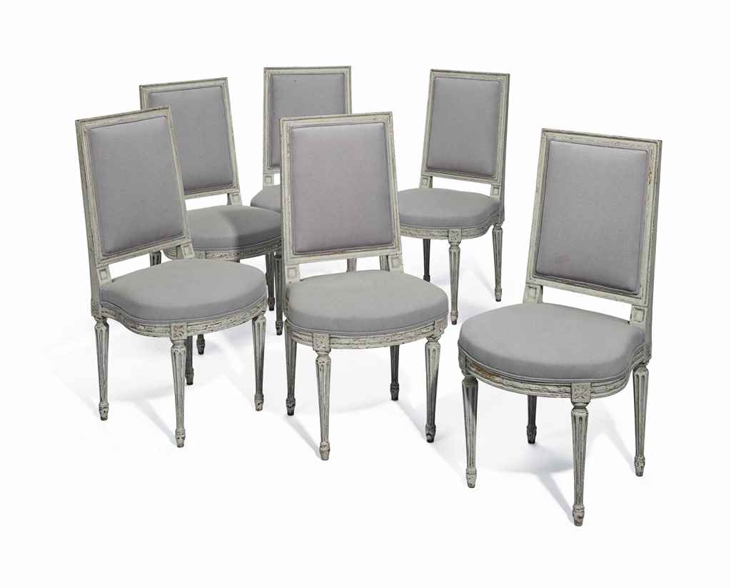 A SET OF SIX LOUIS XVI STYLE W