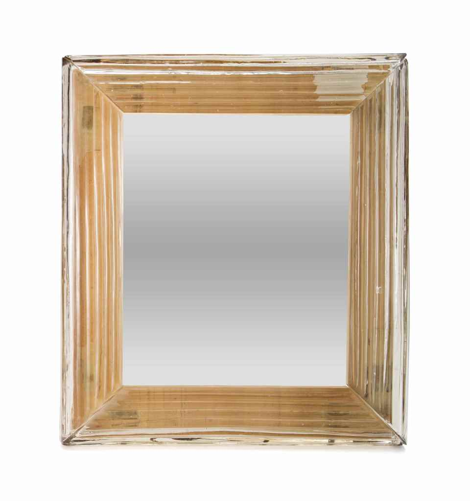 AN ITALIAN GLASS PICTURE FRAME