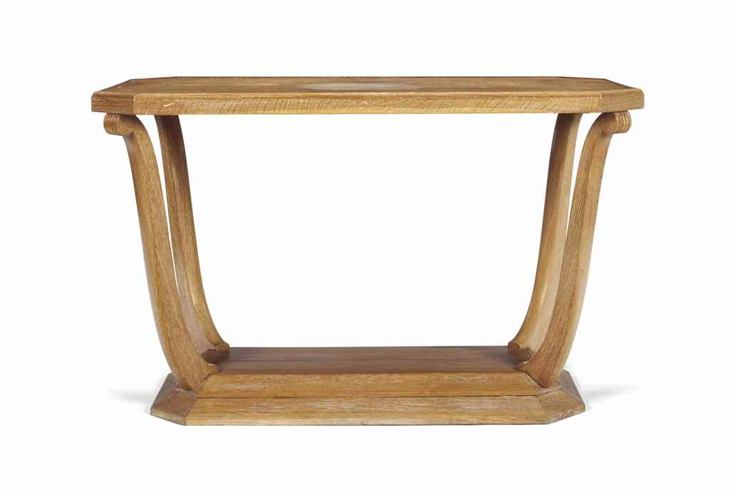 A FRENCH LIMED OAK CONSOLE TAB