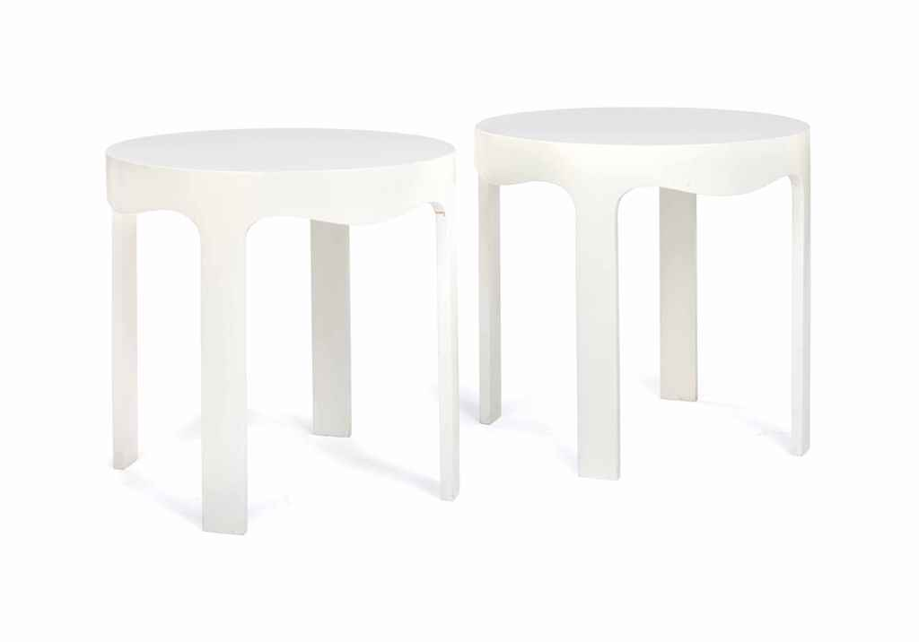A PAIR OF WHITE-PAINTED WOOD S