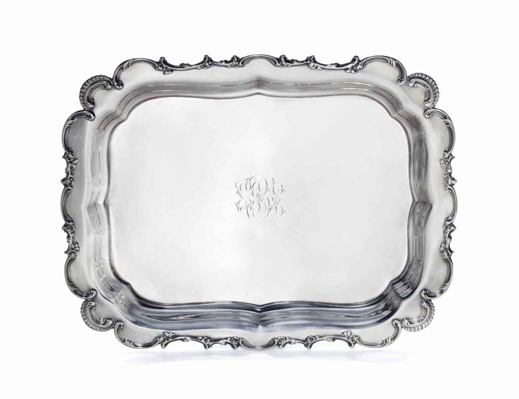 AN AMERICAN SILVER TRAY