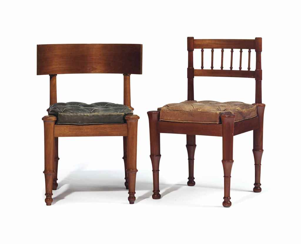 TWO DANISH MAHOGANY SIDE CHAIR