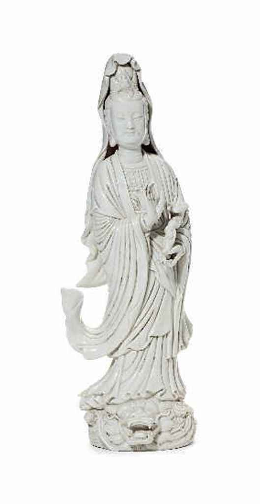 A CHINESE DEHUA FIGURE OF A ST