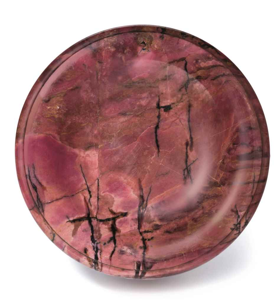 A RUSSIAN RHODONITE TAZZA