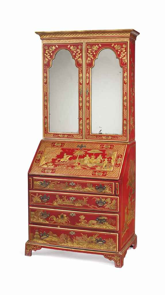 A GEORGE III RED AND GILT-JAPA