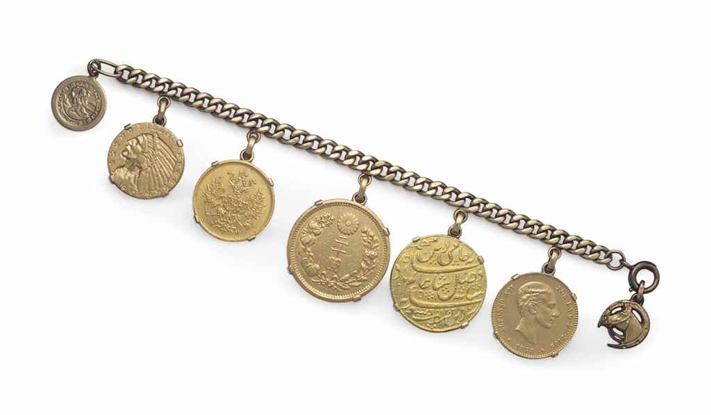 A GROUP OF GOLD COIN JEWELRY