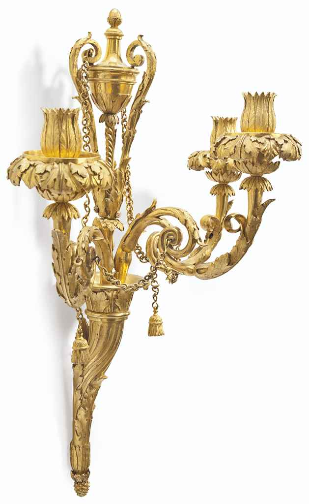A SET OF FOUR LOUIS XVI ORMOLU