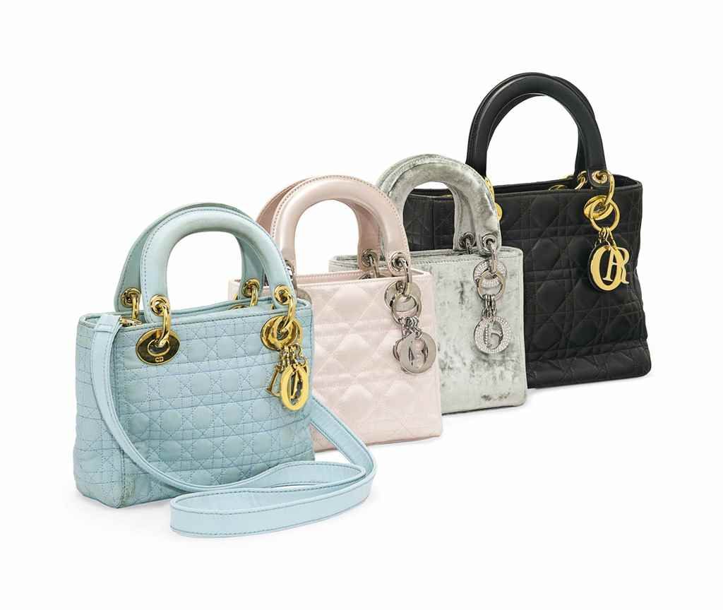 FOUR CHRISTIAN DIOR HANDBAGS