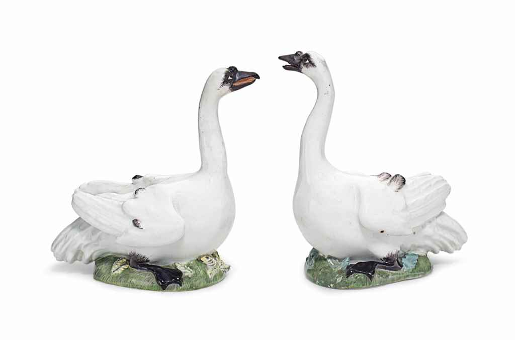 A PAIR OF MEISSEN PORCELAIN MO