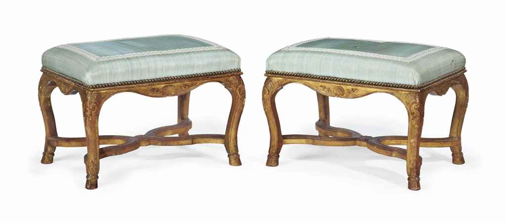 A PAIR OF REGENCE GILTWOOD TAB
