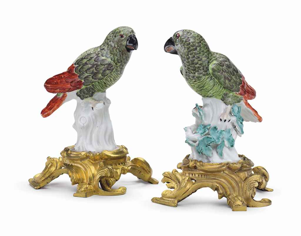 TWO ORMOLU-MOUNTED MEISSEN POR
