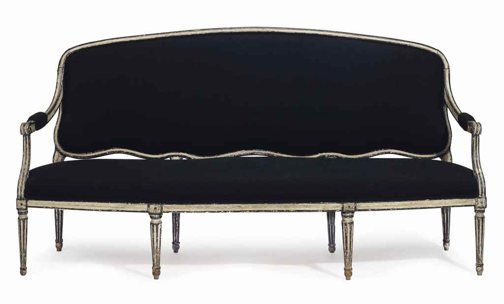 A LOUIS XVI CREAM AND BLACK-PA