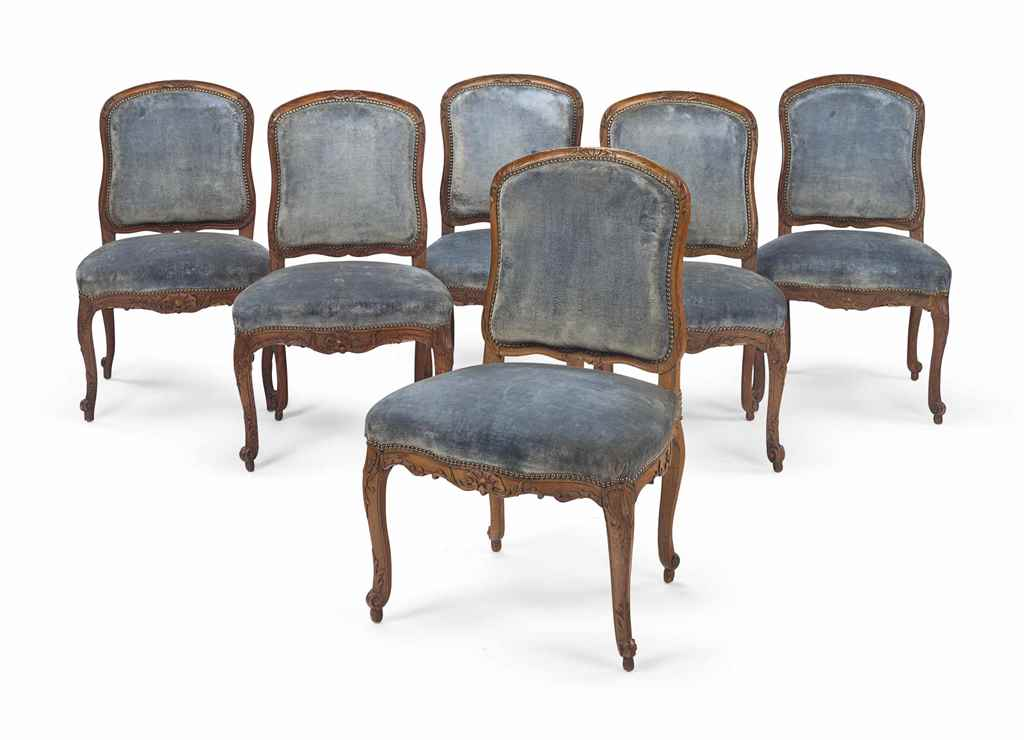 A SET OF SIX EARLY LOUIS XV BE