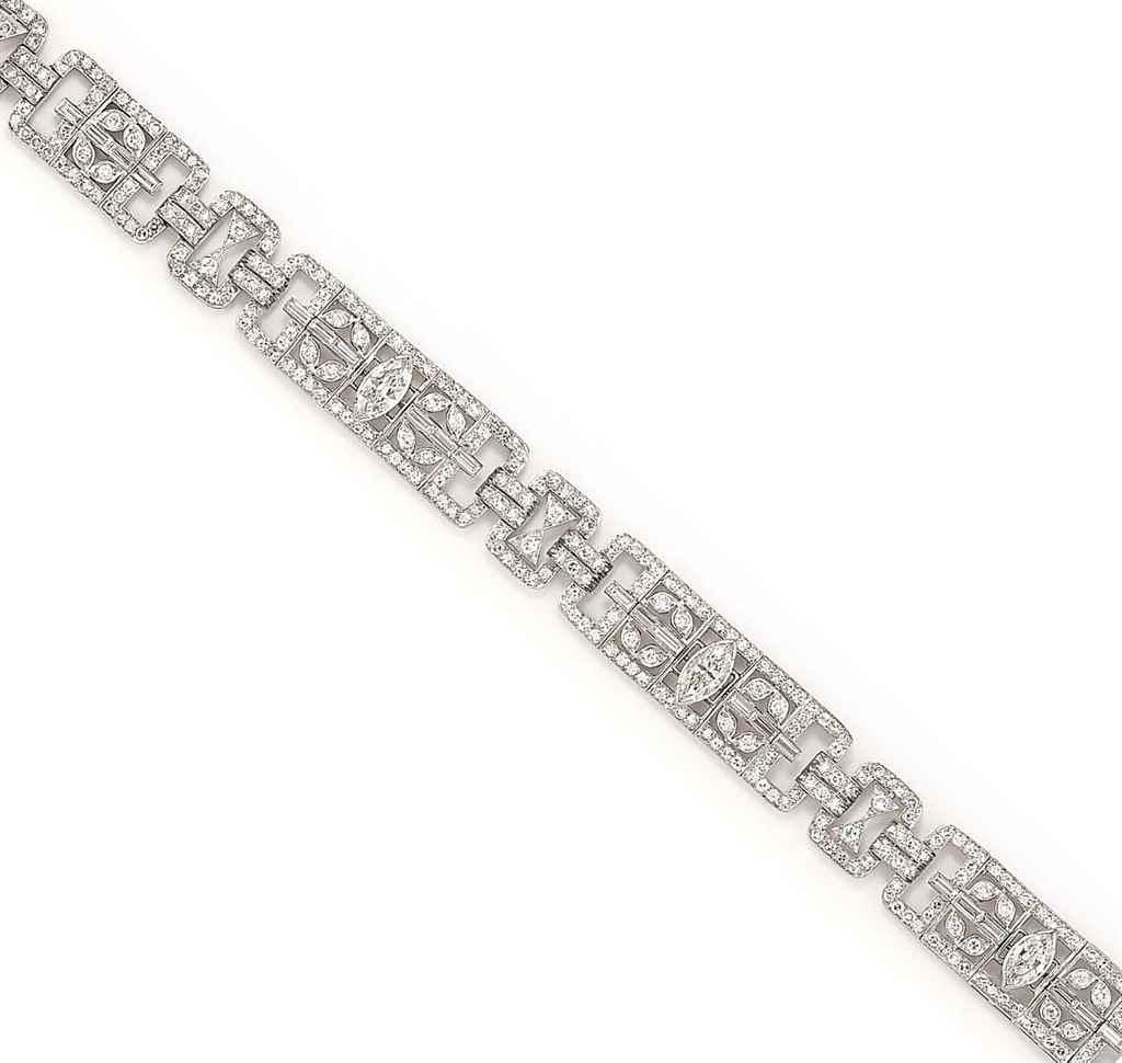 A DIAMOND-SET BRACELET, BY JAH
