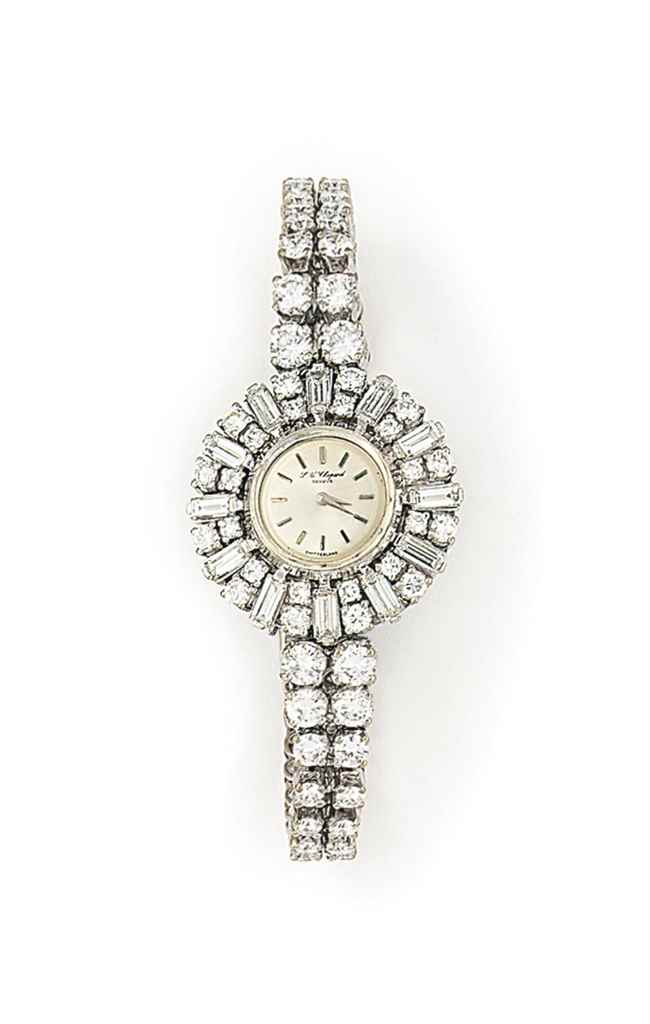 A DIAMOND WRISTWATCH, BY CHOPA