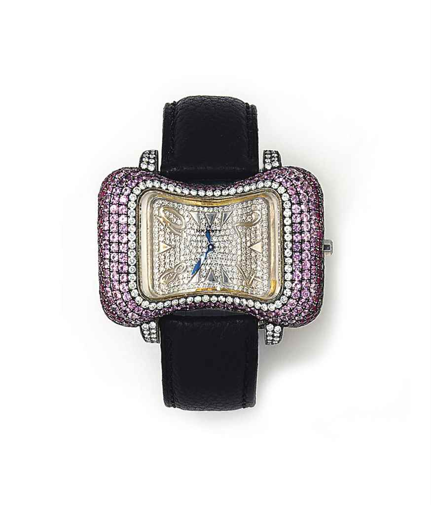 A GEM-SET 'ESTELLE' QUARTZ WRI