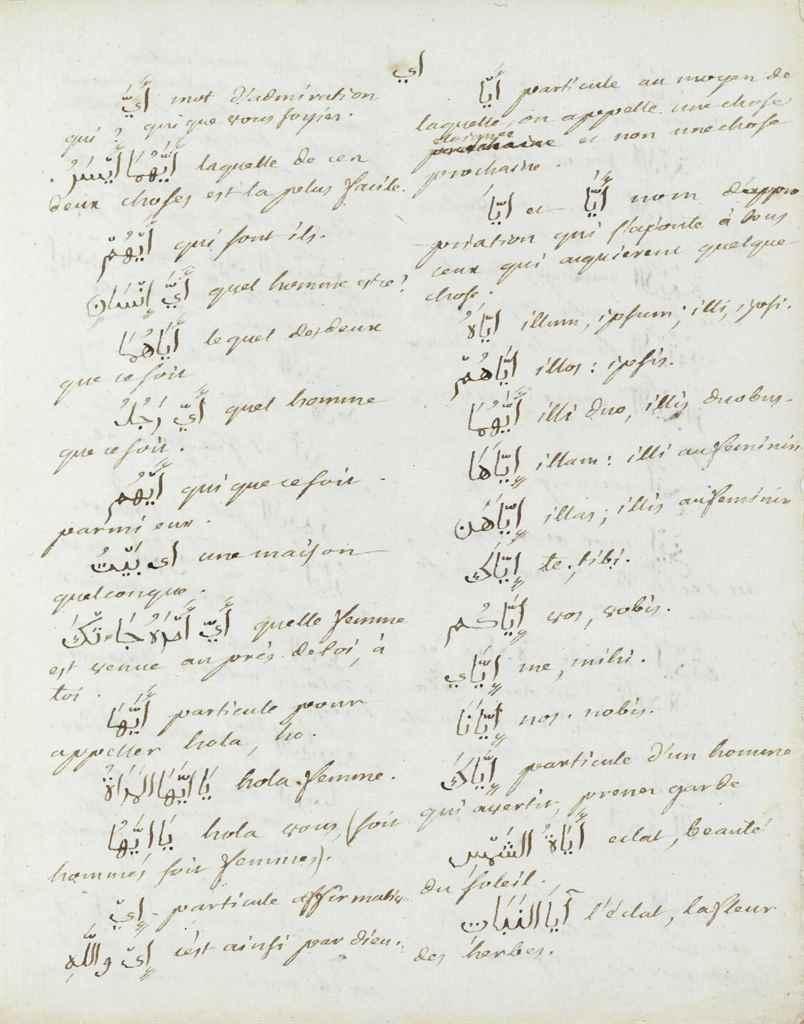 PERSIAN MANUSCRIPT – [Persian-