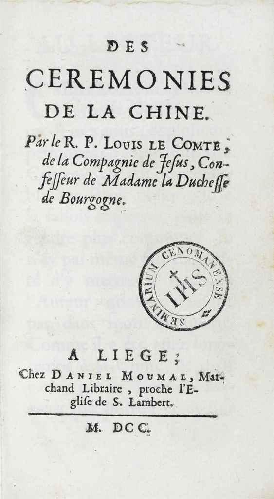 LE COMTE, Louis (1655-1728). D