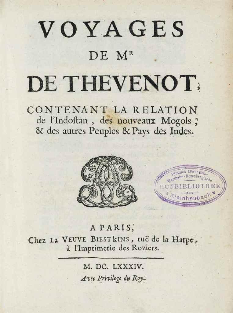 THÉVENOT, Jean (1633-1667). Vo