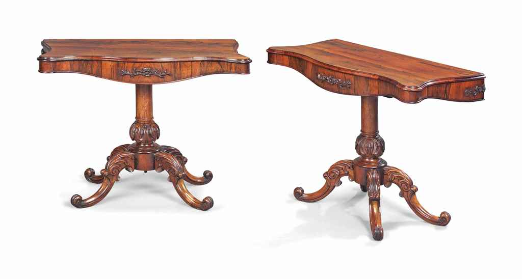 A PAIR OF VICTORIAN ROSEWOOD S