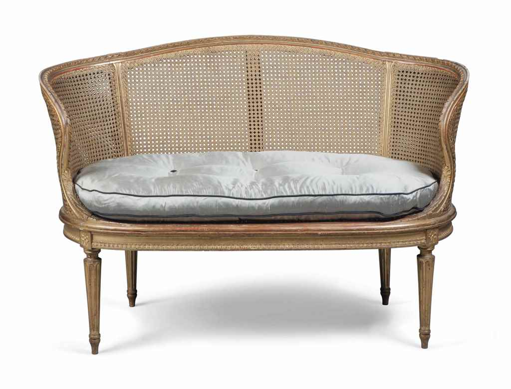 A FRENCH GILTWOOD SOFA