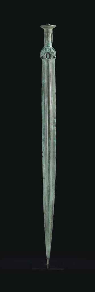 A EUROPEAN BRONZE SWORD