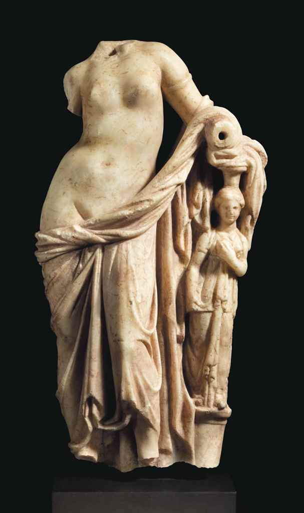 A GREEK MARBLE APHRODITE
