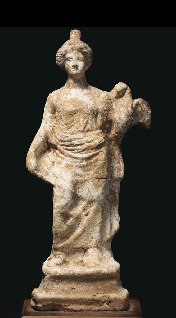 A GREEK TERRACOTTA LEDA AND TH