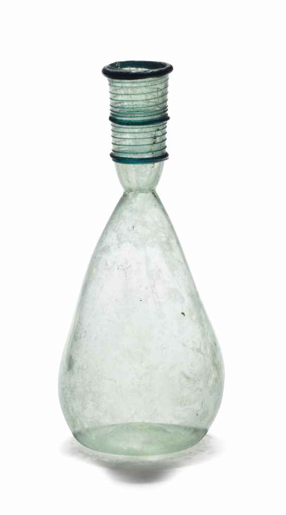 A BYZANTINE GLASS FLASK