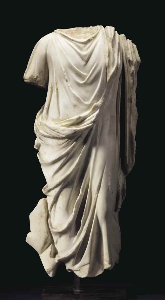 A ROMAN MARBLE DRAPED MALE TOR