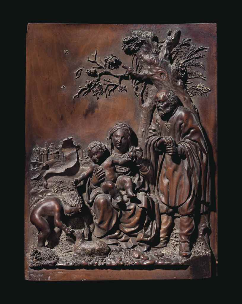 A BOXWOOD RELIEF OF THE HOLY F