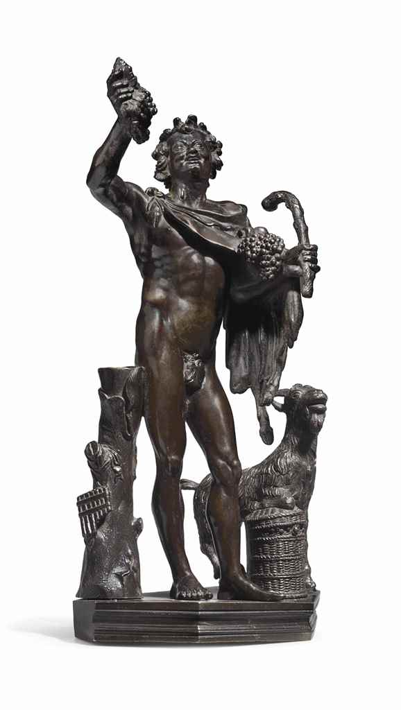 A BRONZE FIGURE OF THE FAUN