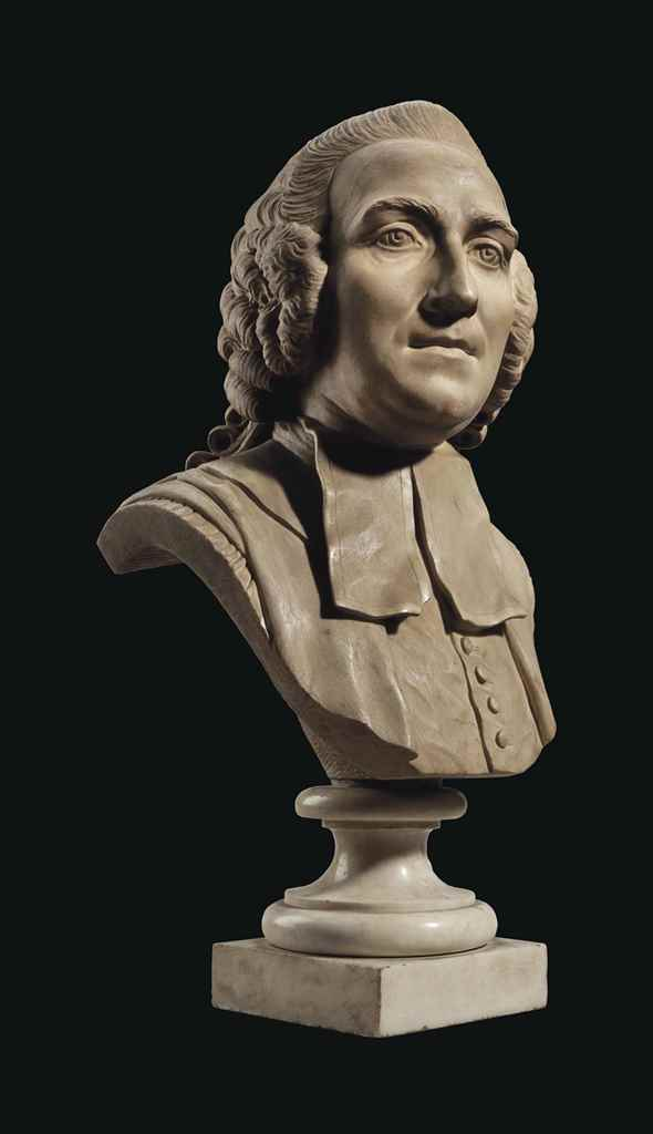 A MARBLE BUST A GENTLEMAN, POS